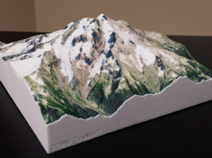 Glacier Peak, WA, USA, 1:25000 3d printed Actual photo of model, viewed from the Northwest; by D. Stockton