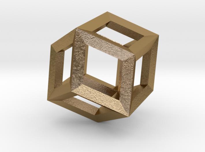 1.84cm-Rhombic Dodecahedron(Leonardo-style model) 3d printed