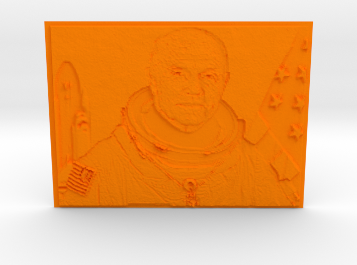 Embossed Image Of Late Astronaut/Senator John Glen 3d printed