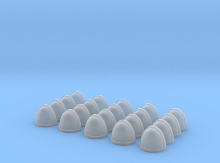20 Shoulder Pads Quarters 3d printed