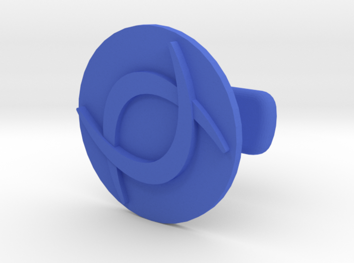 Double C Cufflink 3d printed
