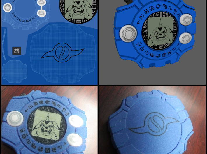 Mimi's Digivice 3d printed Preview of print with Matt's Digivice