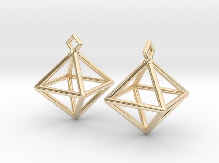 Diamond Earrings #S 3d printed