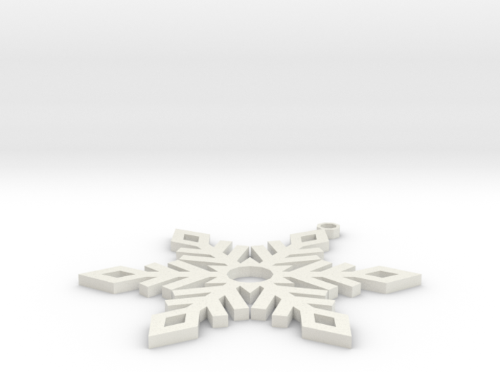 Snow Ornament V2 3d printed