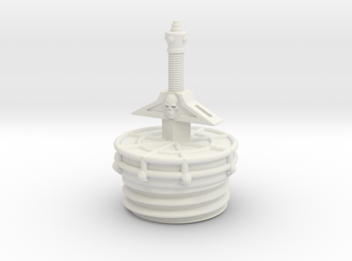 sword tube cap 3d printed