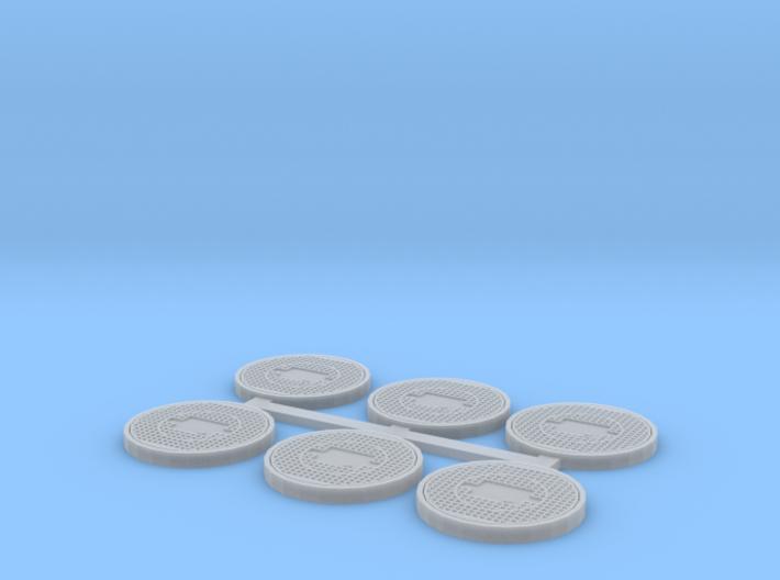Toronto Style Manhole (HO Scale) 3d printed