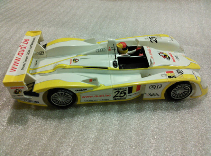 CK4 Chassis Kit for 1/32 Scale LMP MagRacing Car 3d printed MagRacer built with CK4 and SCX PRO body and parts.