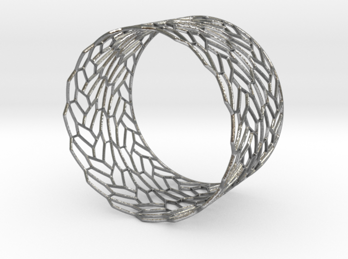 Dragonfly Wing Bracelet 3d printed Silver Dragonfly Wing Bracelet is spectacular.