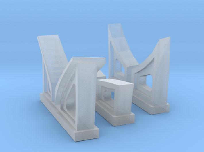1/96 Cradles Set IJN 9m Cutter 3d printed