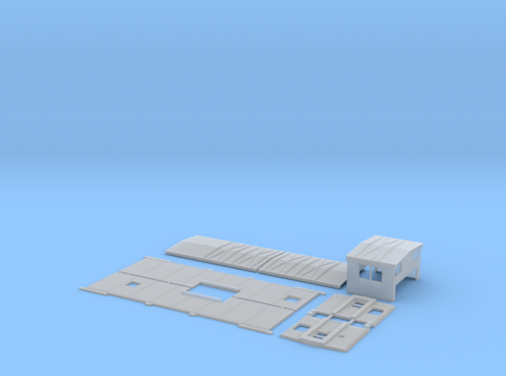 DTI 140-145 Extended Vision Caboose Body Kit 3d printed