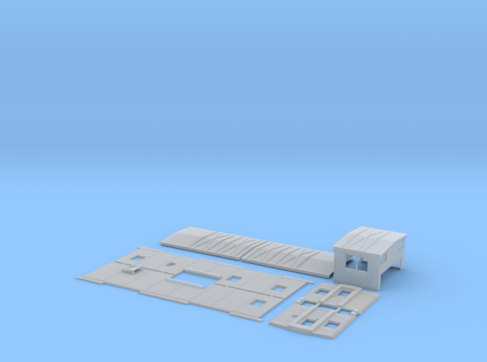 DRGW 01515-01524 Caboose Body Kit 3d printed