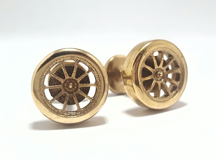 Formula 1 Wheel cufflinks 3d printed