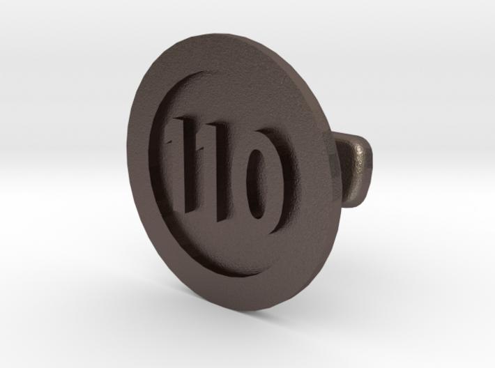 Cufflink 110 (price per piece) 3d printed