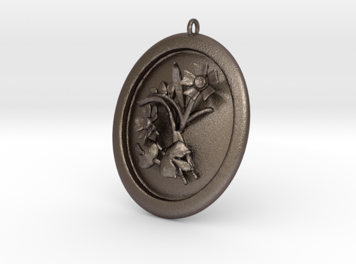 Beautiful Wild Flowers Pendant  3d printed