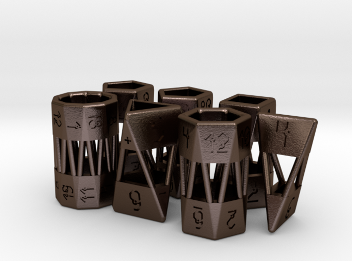 Barrel Dice RPG Set and Singles 3d printed