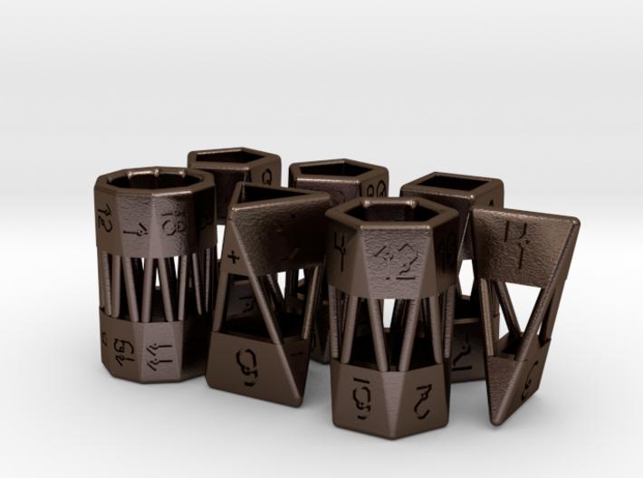 Barrel Dice RPG Set and Singles 3d printed
