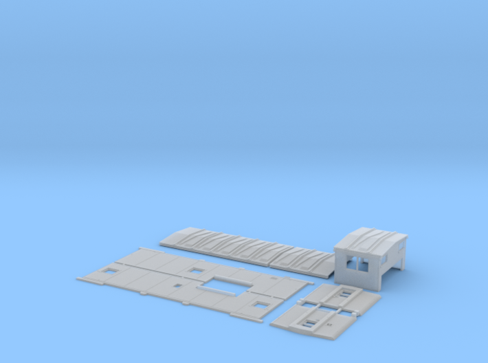 MP 13515-13574 As-built Caboose Body Kit 3d printed