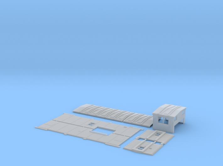 MP 13515-13574 Rebuilt Caboose Body Kit 3d printed