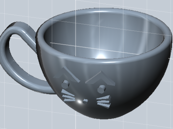 Cat Mug - 1/4 Doll Size 3d printed