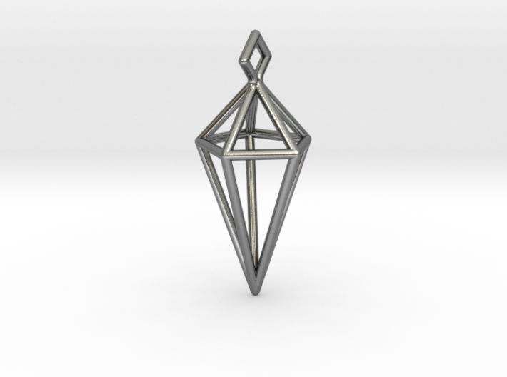 Geometric Necklace #L 3d printed