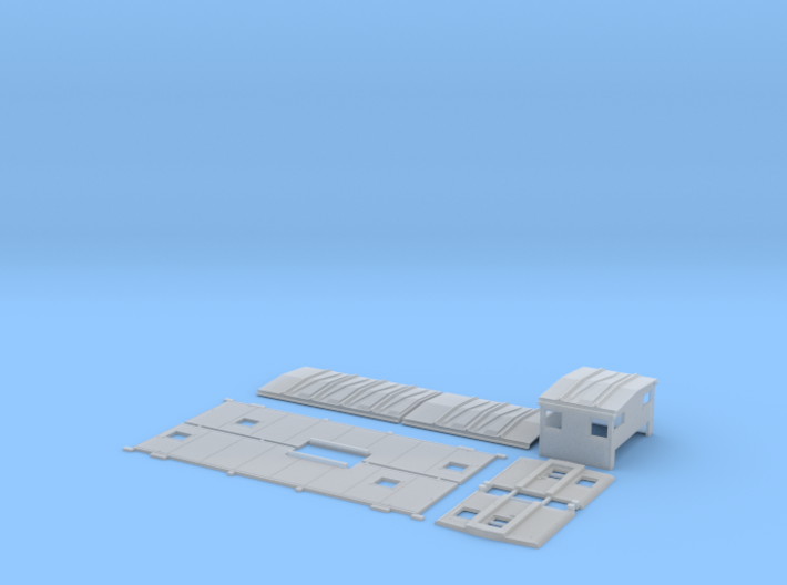 SSW 1-25 Caboose Body Kit, Gaskets 3d printed