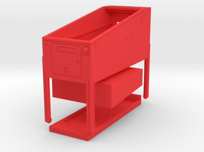 Mini Pinball Cabinet V2 - 1:10 Scale 3 parts 3d printed