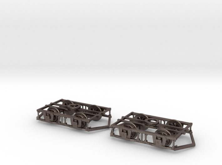 Blackpool Lancaster Bogies With Ploughs & Wheels 3d printed