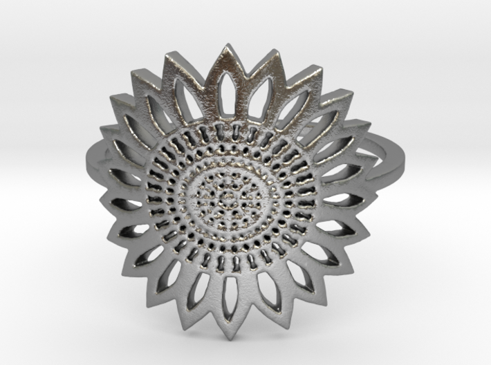 Sunflower (all size 4-13) 3d printed