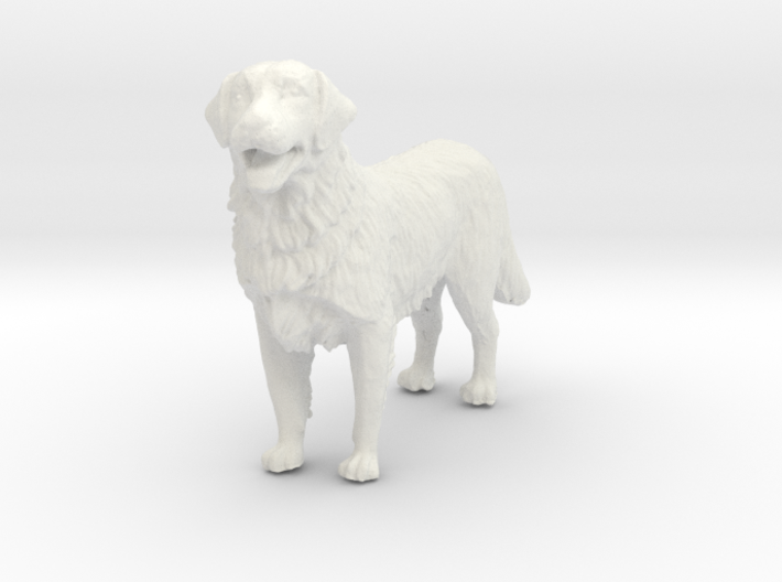 1/12 Golden Retriever Standing 3d printed