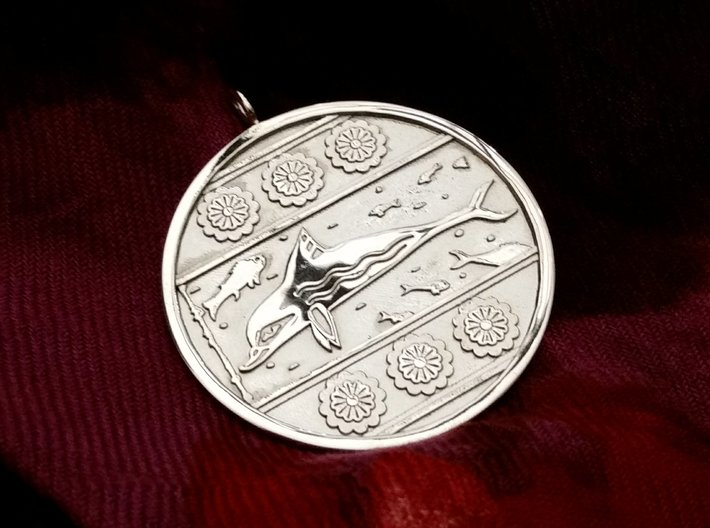 Minoan Dolphin Pendent 3d printed