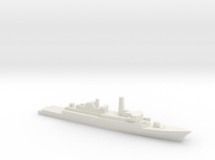 Type 21 frigate w/ Exocet AShM, 1/2400 3d printed