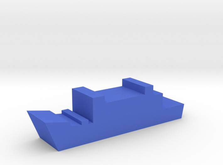 Game Piece, Blue Force Frigate 3d printed