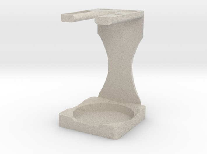 Drip Brush and Shaving Stand 3d printed