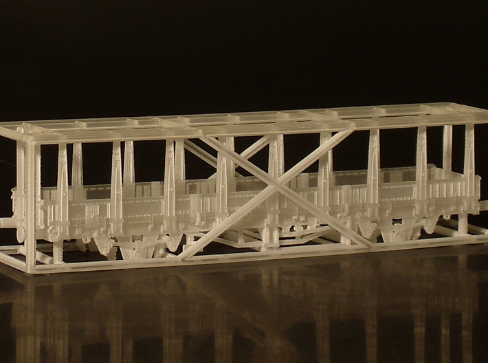 2151 1/148 German train-ferry wagon, 40t-glw low 3d printed model as-delivered