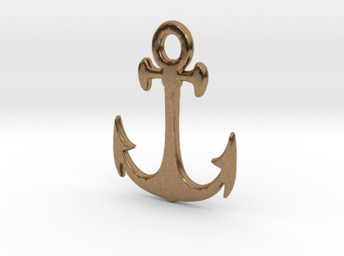 Anchor Pendant 3d printed