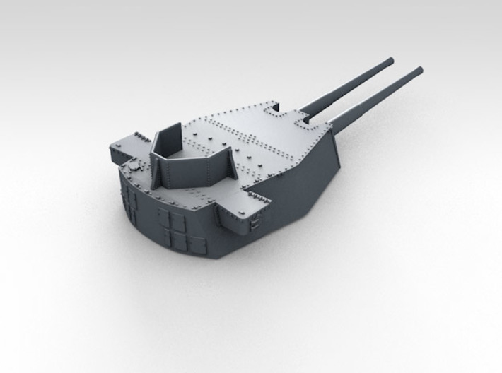 "1/570 HMS King George V 14"" Turrets 1941 3d printed 3d render showing product detail (B Turret)"