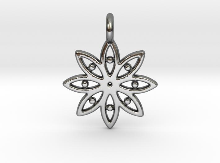 A Flower C Earring 3d printed