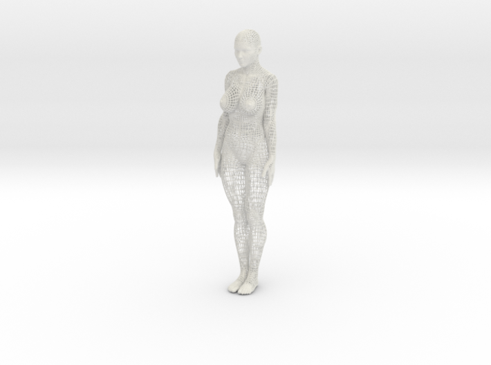 Wireframe woman 30cm 3d printed
