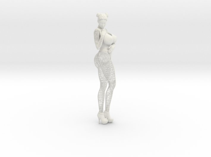 Sexy Wireframe Woman Hipoly 30cm 3d printed