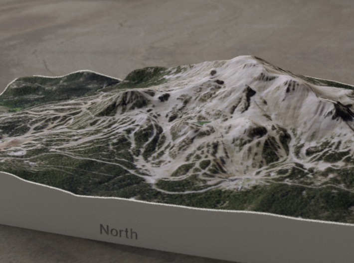 Mammoth Mtn, California, USA, 1:25000 3d printed