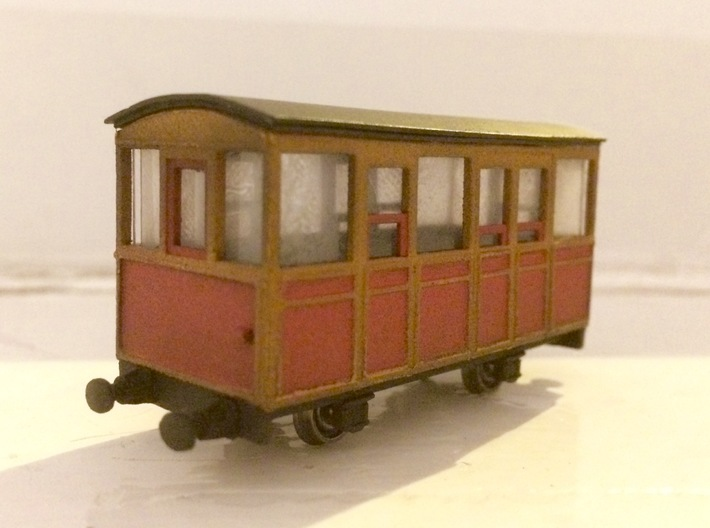009 Talyllyn Railway WC Carriage no7 (Ex-Penrhyn) 3d printed