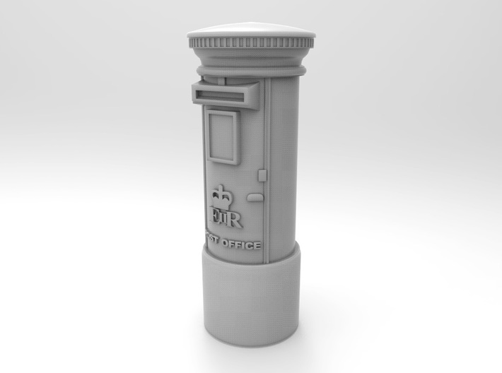 Post Box UK. HO Scale (1:87) 3d printed Render of UK postbox in HO scale