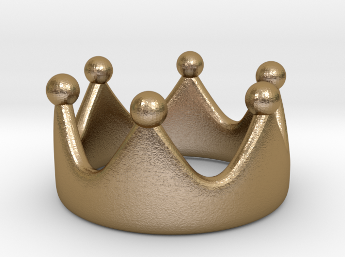 princess crown ring II 3d printed