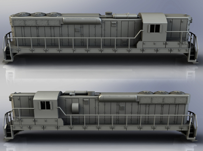 EMD SD24 in S Scale 3d printed