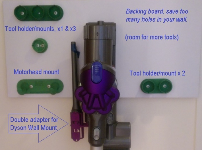 For Dyson V6 Wider 3xTool Holder/Mount 3d printed