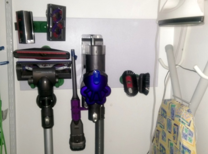 For Dyson V6 Wider 3xTool Holder/Mount 3d printed My setup