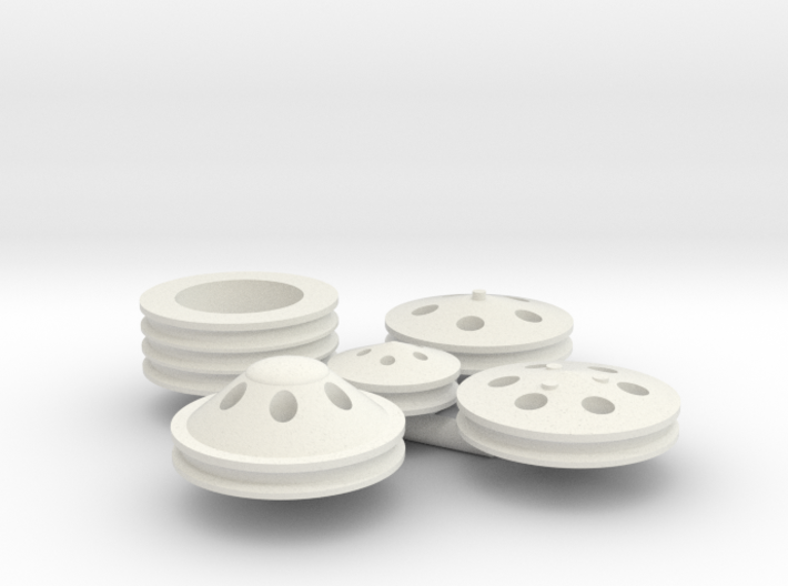 Billet Pulleys 1/12 scale 3d printed