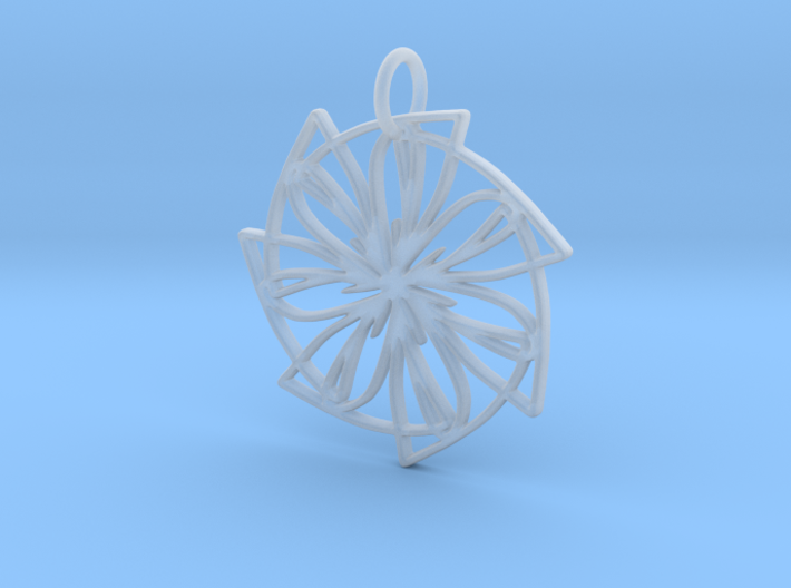 Lemon Slice Medium Pendant 3d printed