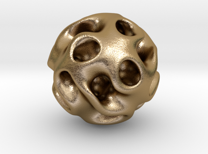 0605 IsoSurface F(x,y,z)=0 Gyroid Ball (d=5cm) #2 3d printed