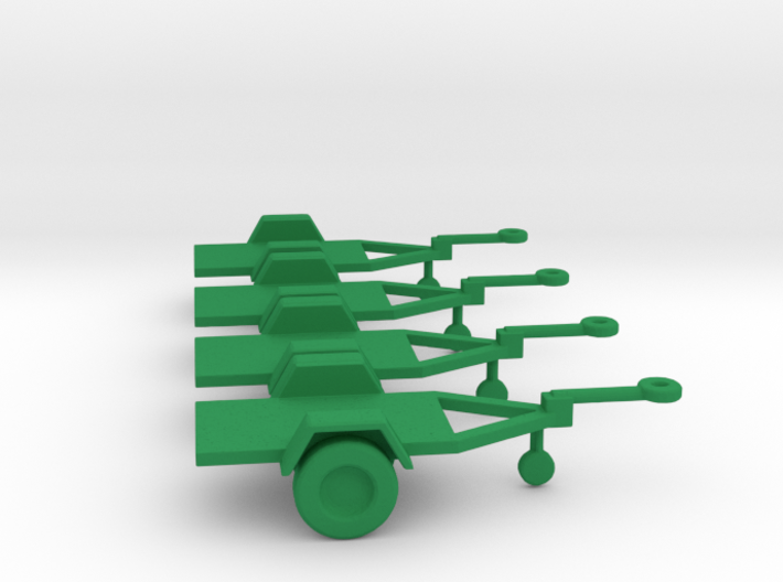 1/100 Scale M416 Flat Bed Jeep Trailers (4) 3d printed